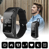 Life Waterproof Bluetooth Pedometer Smartband Call Calories Heart Rate Meter Step Fitness Tracker Music Player Sport Wrist Watch
