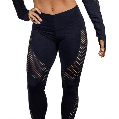 Women Elastic Compression Sport Leggings Push Up High Waist