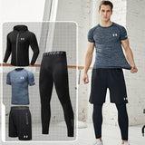 Under Armour men sports suits training jacket ropa deportiva hombre Tight Running suit  sports bra gym leggings China size M-4XL