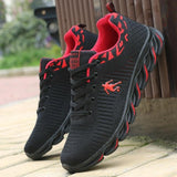 Men's Running Shoes Air Mesh Sneakers Outdoor Sport Shoes Comfortable Breathable Jogging Shoes Black Sneakers chaussure homme