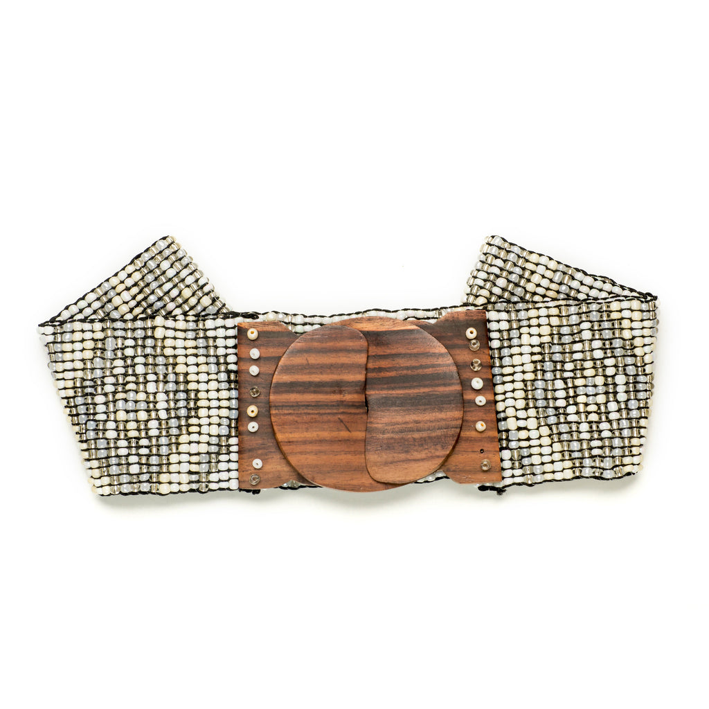 Pearl Native Print Belt