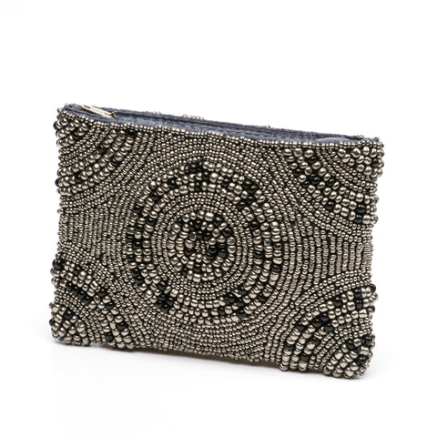 Coin Purse- Nazca Pewter Midnight