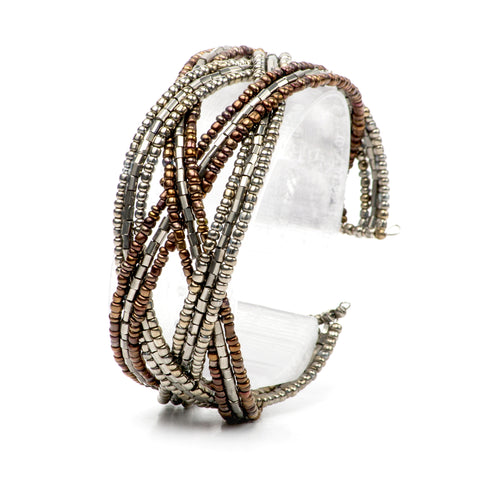 Small Cuff Bracelet- Pewter Chocolate Collection