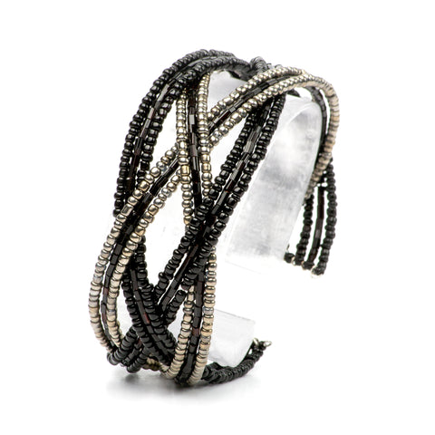 Small Cuff Bracelet- Midnight Pewter Collection