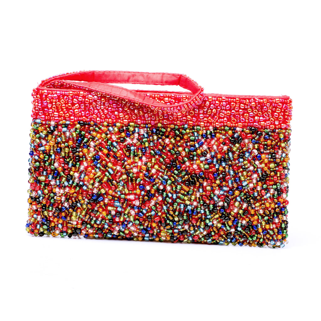 Evening Clutch- Red Rainbow