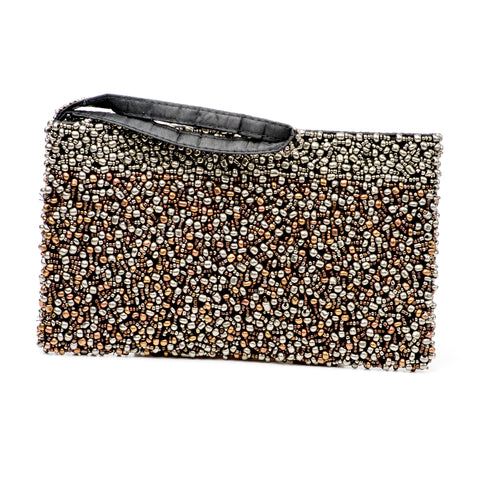 Evening Clutch- Pewter Chocolate Collection