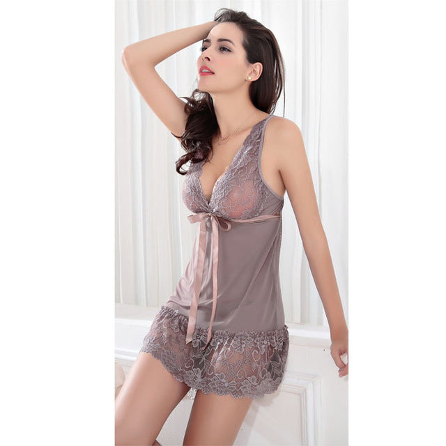 Sexy Sleepwear Dress G-String Nightwear