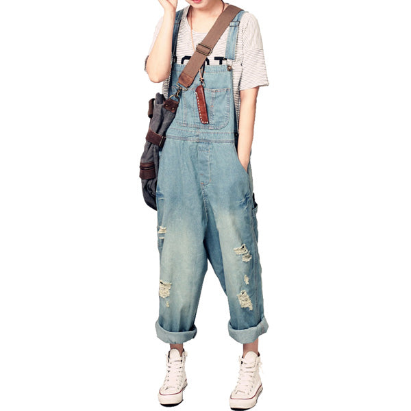 Casual Overalls Baggy Jeans Wide Jumpsuit