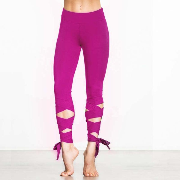Lace up Strappy Leggings Fitness Slim Sexy Pants