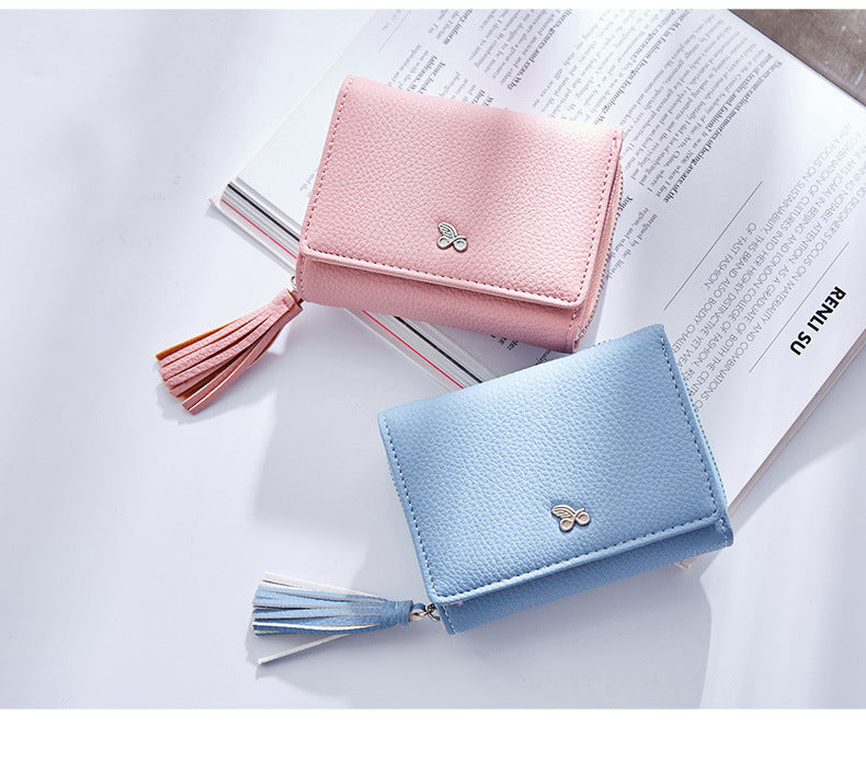 Tassels Zipper&Hasp Women Wallet
