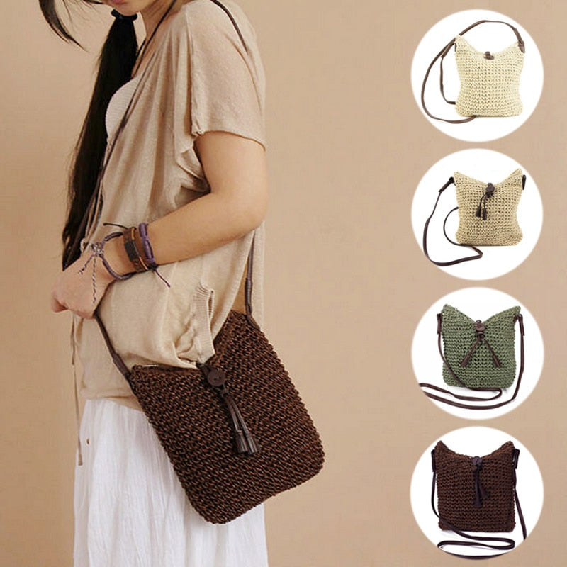 Fashion Woven Straw  Shoulder Bags