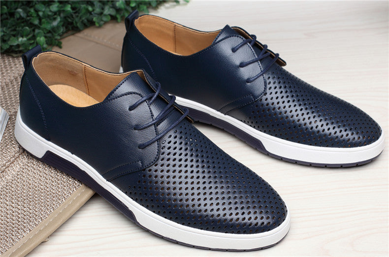 Casual Shoes Leather Summer Breathable Shoes