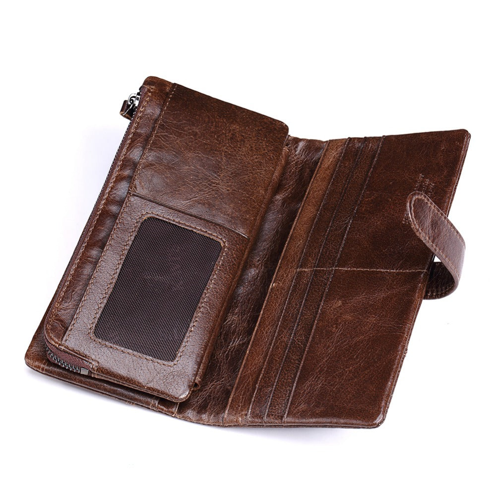 Luxury Genuine Cowhide Leather Wallets