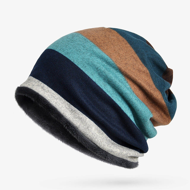 Double Layers Cotton Hats - Scarf