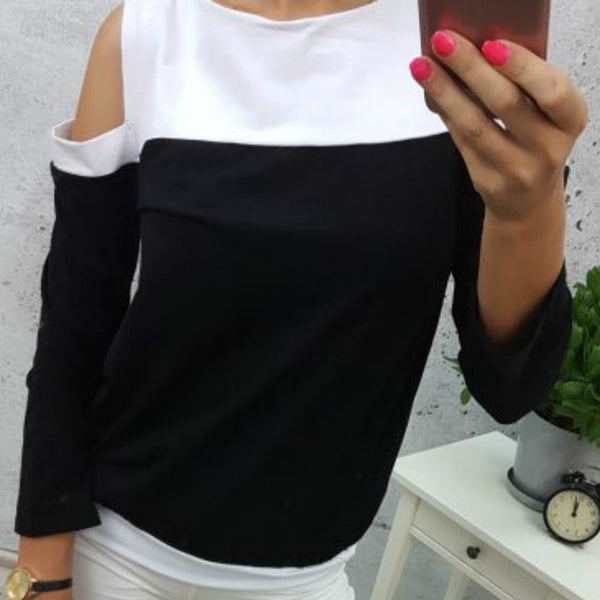 Top Long Sleeve Patchwork T-Shirts
