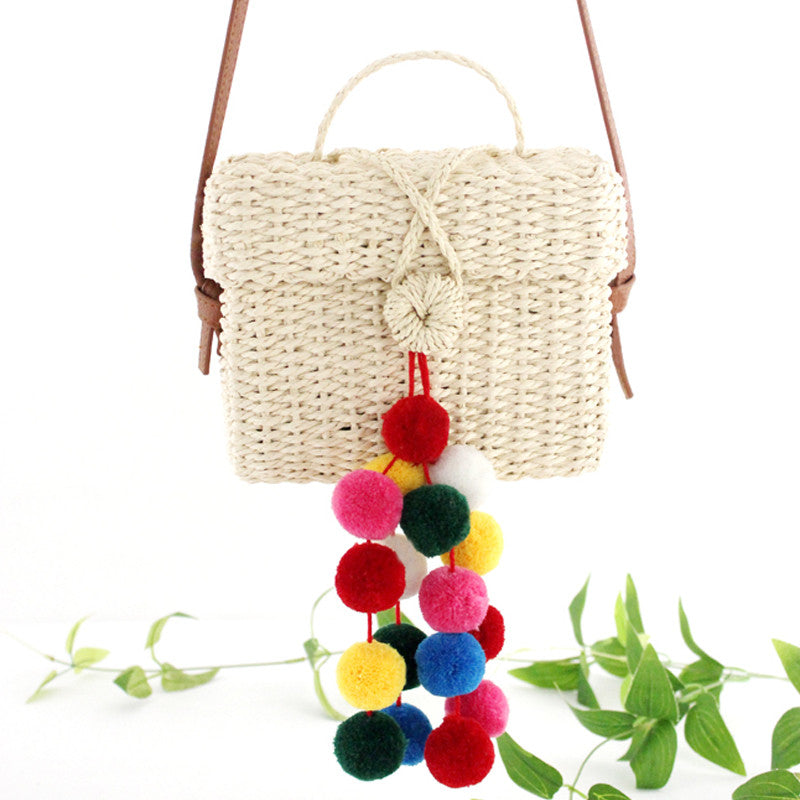 Pure Hand-Woven Handbag Shoulder Bags