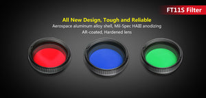 Double threaded lens filter R-G-B FT11S
