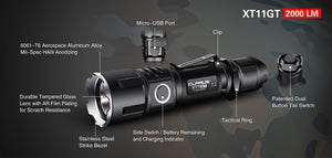 KLARUS XT11-GT LIGHT 2000 LUMS RECHARGEABLE