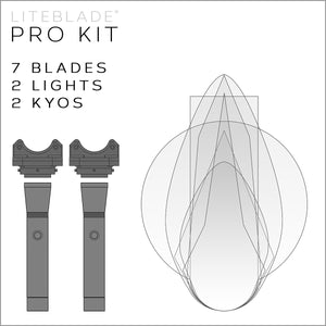 PRO KIT / 7LITEBLADES + 2LIGHTS + 2KYOS
