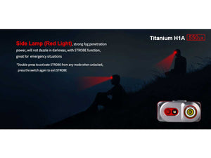 H1A TITANIUM HEADLAMP 550 LUMS RECHARGEABLE