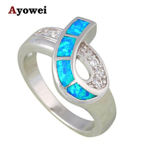RINGS RING BLUE FIRE OPAL Special Birthday Gift For Daughter