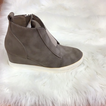 Taupe ankle boots