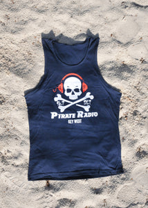 Men's Dark Blue Tank Top #1007