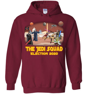 The Jedi Squad Hoodie - Gold & Tex Orange