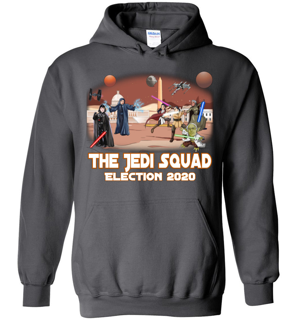 The Jedi Squad Hoodie - White & Tex Orange