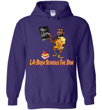 LA-Bron Schools The Don Hoodie - Gold w Purple Outline