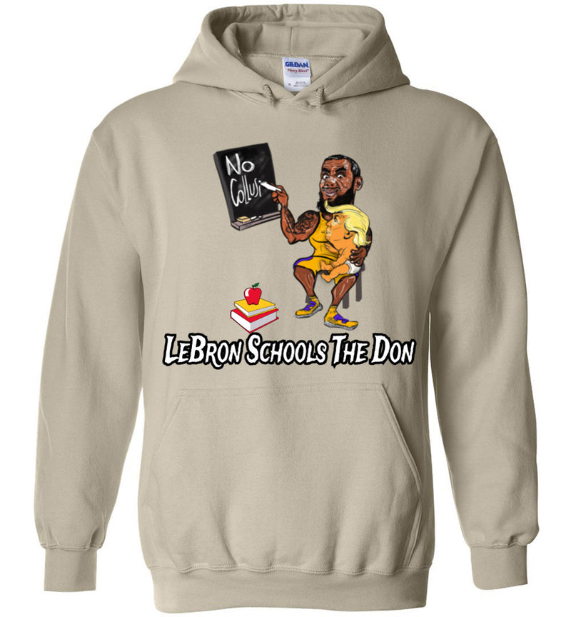 LeBron Schools The Don Hoodie - White w Black Outline