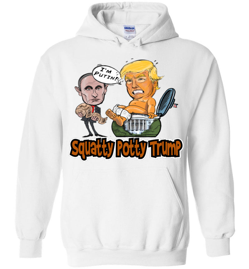 Squatty Potty Baby Trump Hoodie -Texas Orange & White