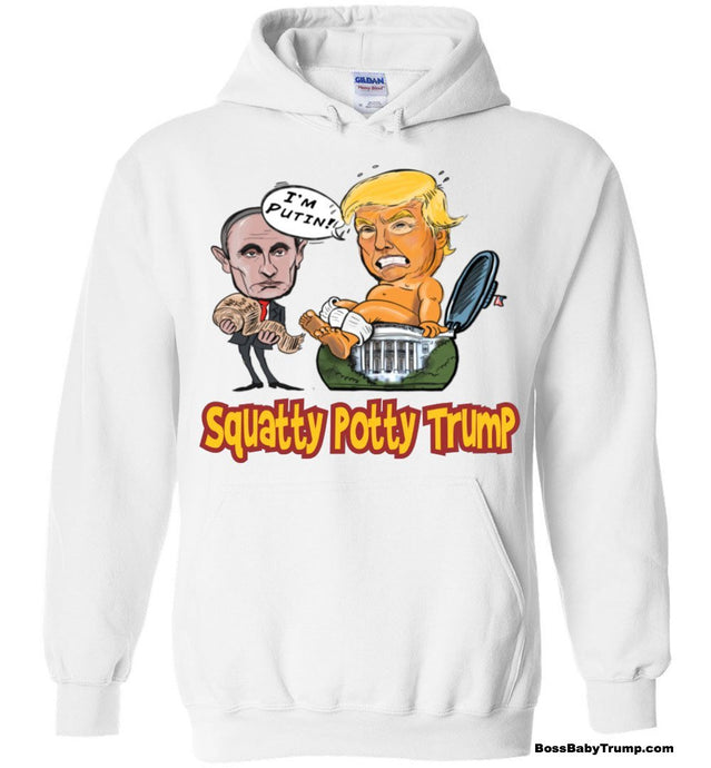 Sqatty Potty  Baby Trump Hoodie - Cardinal & Gold