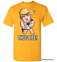 Thug Life Baby Trump Tee - Regular Font Black Outline