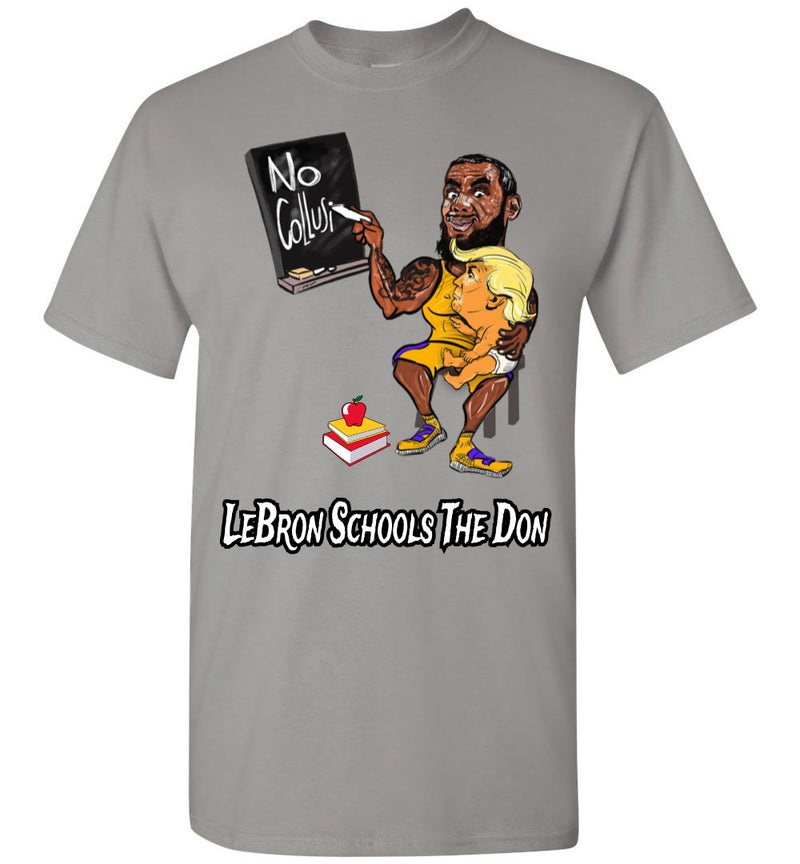 LeBron Schools The Don Tee - White & Black Outline