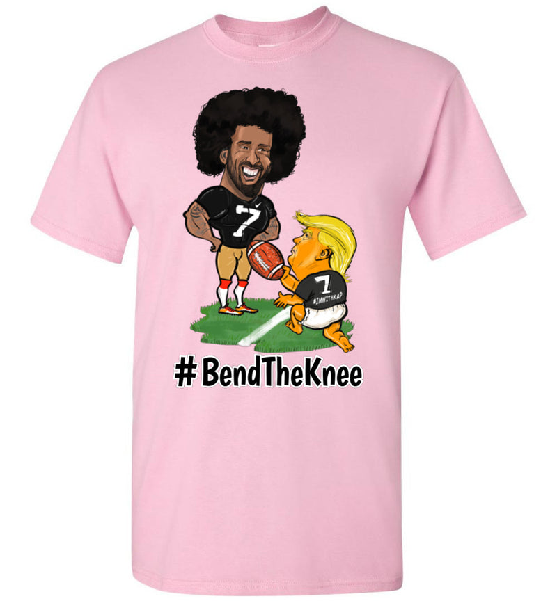 #Bend The Knee Kaep Tee - Black w White Outline