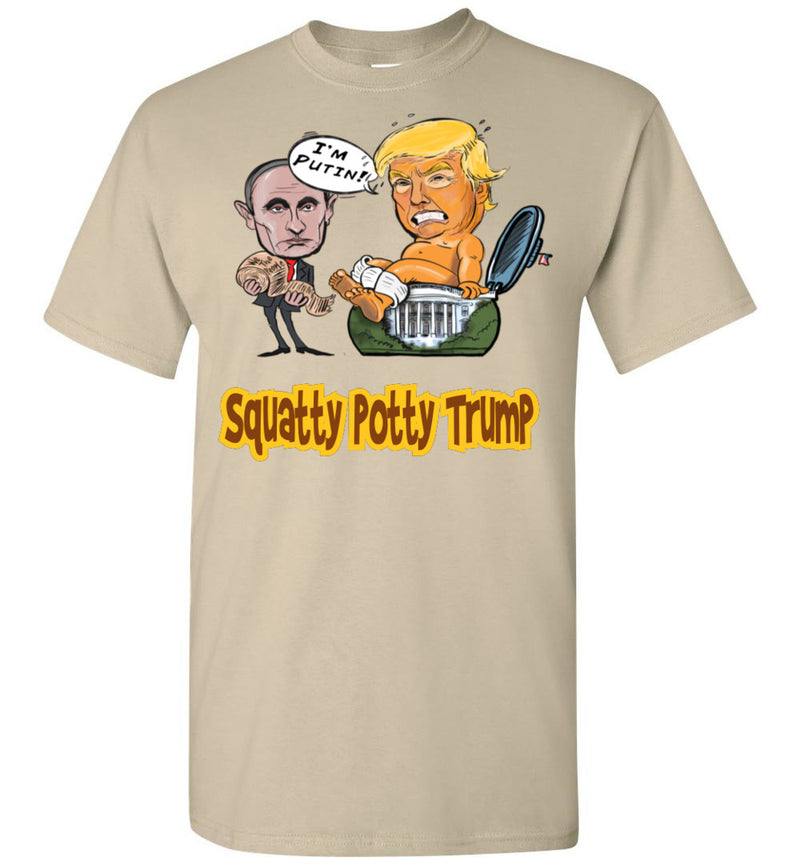 Squatty Potty Baby Trump Tee - Gold & Brown