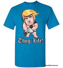 Thug Life Baby Trump Tee - Old English Font Black Outline