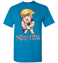 Thug Life Baby Trump Tee - Old English Font White Outline