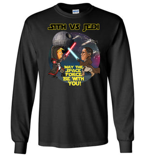 Sith Vs Jedi Long Sleeve Tee - Yellow Outline