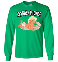 CryBaby In Chief Long Sleeve Tee - Black Outline