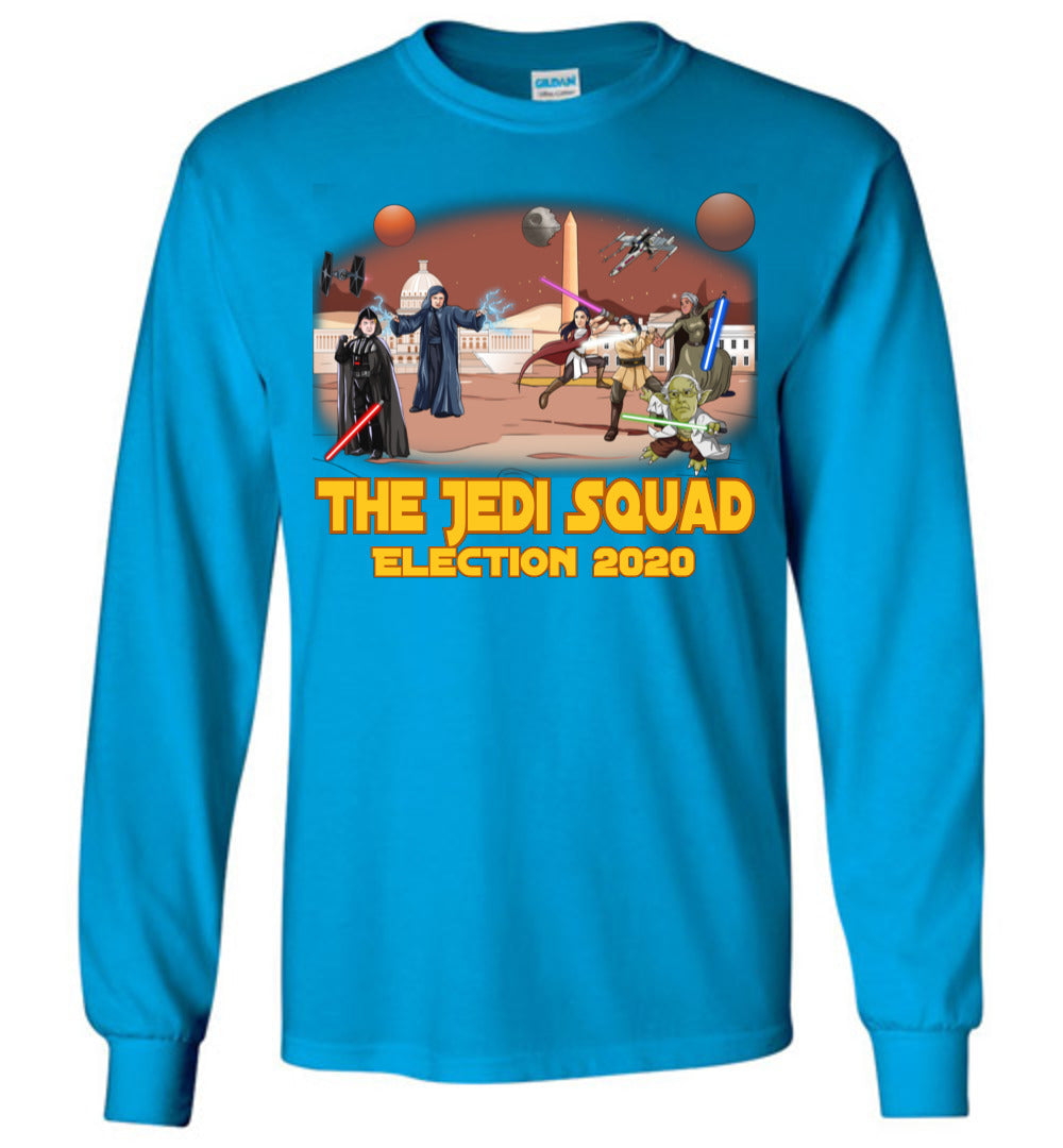 The Jedi Squad Long Sleeve Tee - Gold & Tex Orange