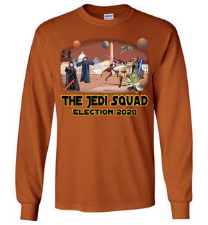 The Jedi Squad Long Sleeve Tee -  Black & Gold