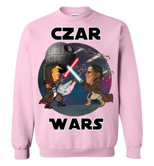 Czar Wars Crewneck Sweatshirt - White Outline