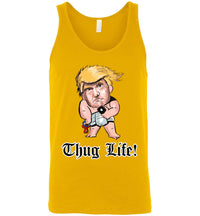 Thug Life Baby Trump Tank - Old English Font White Outline