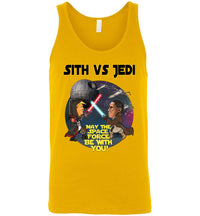 Sith vs Jedi Tank - Black w Gold Outline
