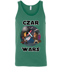 Czar Wars Tank - Black w White Outline