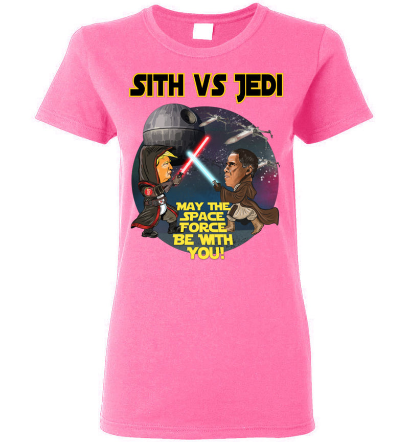 Women's Sith vs Jedi Tee - Gold Outline