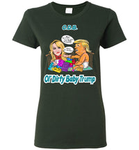 Women's Ol' Dirty Baby Trump Tee - Teal & White