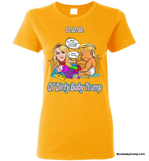 Women's Ol' Dirty Baby Trump Tee - Pink & Aqua
